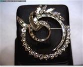 Platinum-Diamond Brooch 66 Diamonds 2.73 Carat T.W. 950 Platinum 8.15dwt